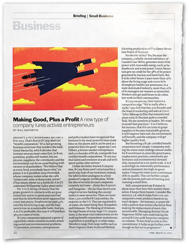 Making Good Plus Profit - TimeMag