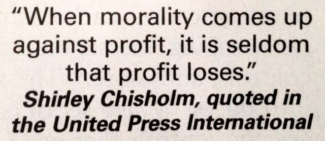 Morality vs Profit